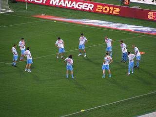 Napoli - Pre-match Warm Up